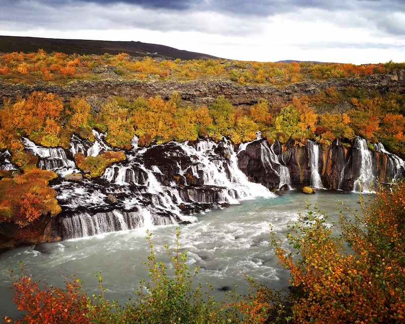 Hraunfossar - autumn