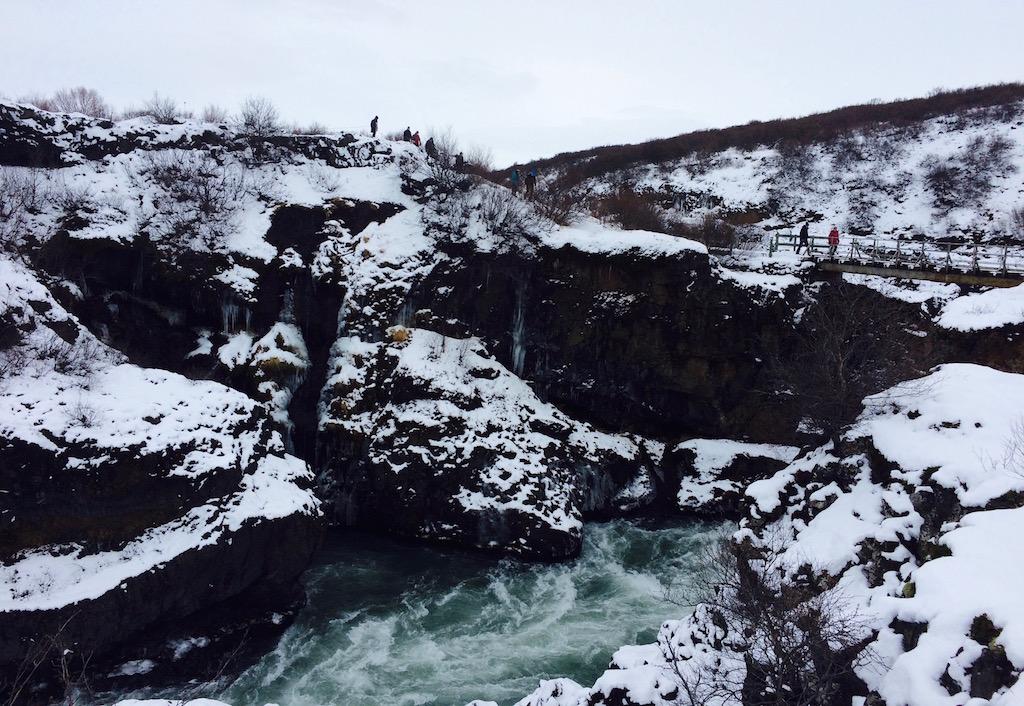 Hraunfossar bridge