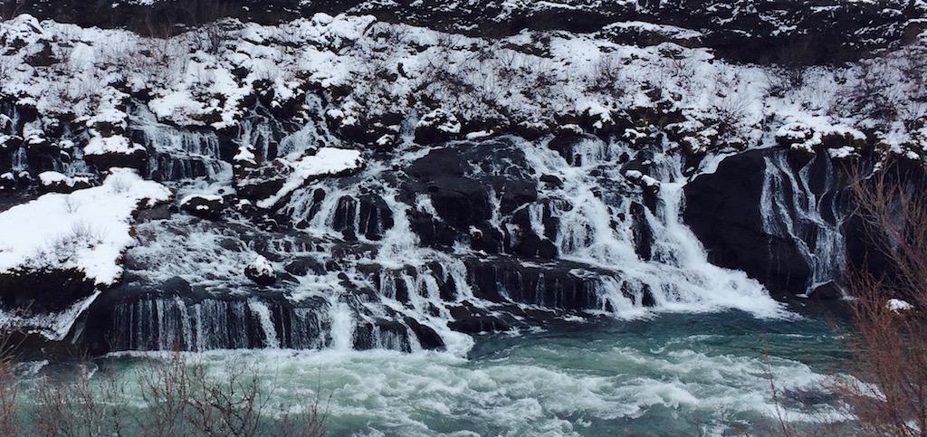 Hraunfossar winter glory