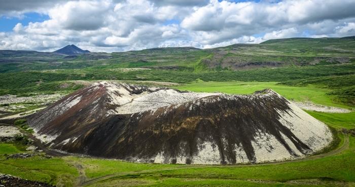 Grabrok crater - volcanic Iceland