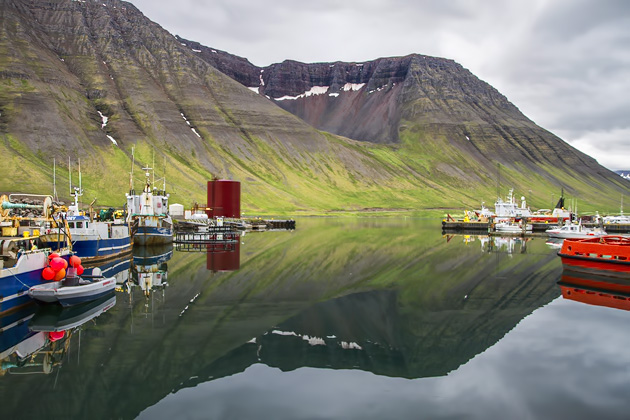 Isafjordur fishing town